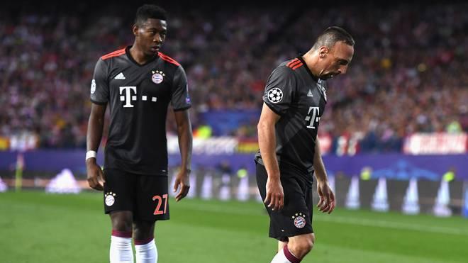 David Alaba (l.) und Franck Ribery treffen mit den Bayern auf den FC Arsenal