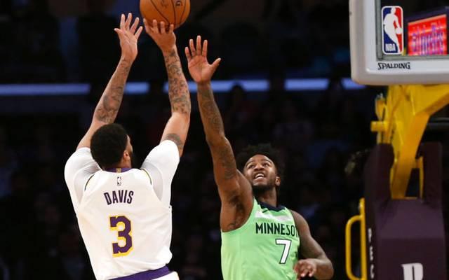 Anthony Davis verbuchte für die Los Angeles Lakers 50 Punkte gegen Minnesota