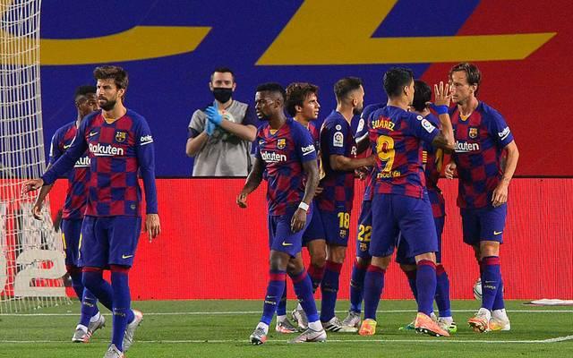 Ivan Rakitic (re.) schoss das entscheidende Tor für den FC Barcelona