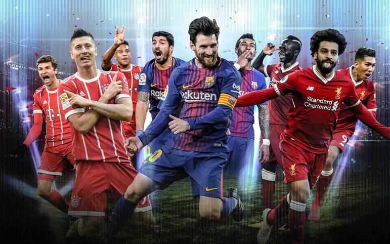 Im Achtelfinale der Champions League tummeln sich die besten Angriffsreihen Europas. Doch welches Team vereint die größte Offensivkraft? SPORT1 macht das Ranking der  besten Sturmtrios