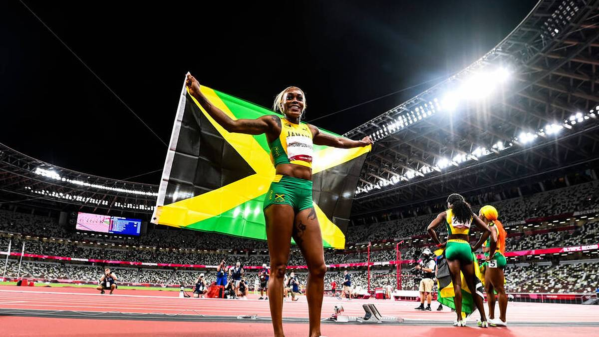 Elaine Thompson-Herah bejubelte ihr Gold über 100 Meter lang allein