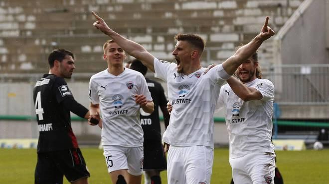 Stefan Kutschke erzielt beide Tore für den FCI