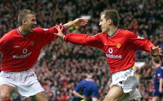 Wiedervereint: David Beckham und Phil Neville