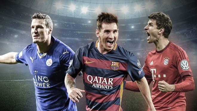 Huth, Messi und Müller beim Jubeln
