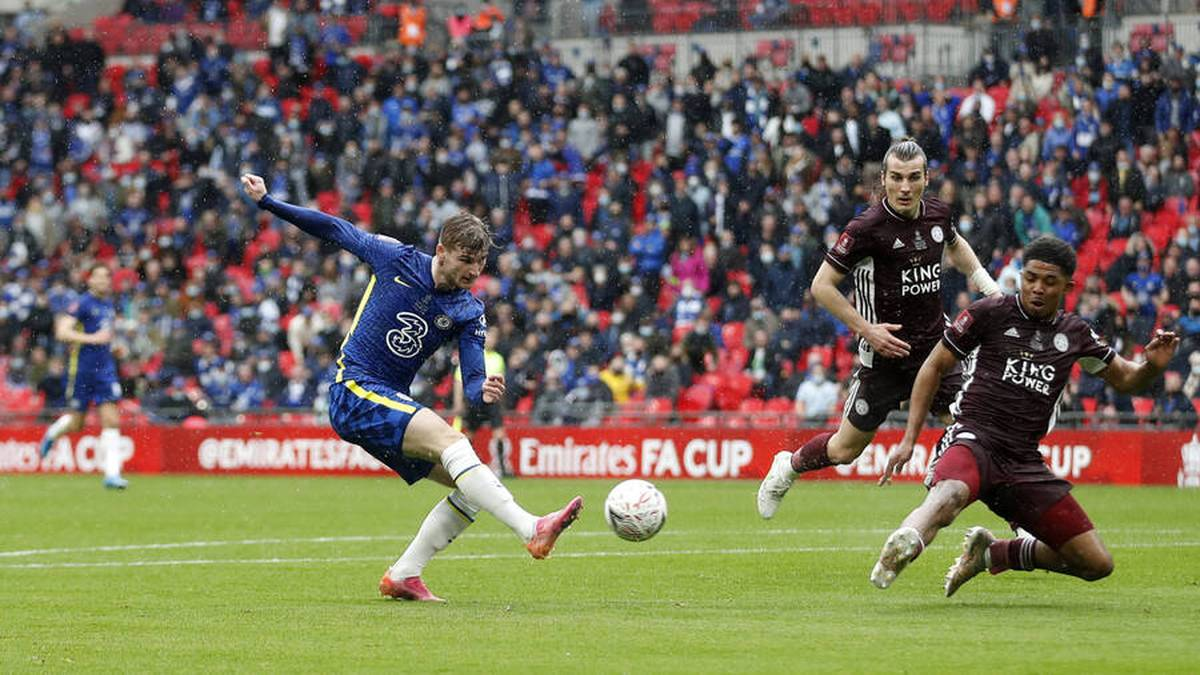 Chelseas Timo Werner (l.) blieb im FA-Cup-Finale gegen Leicester glücklos