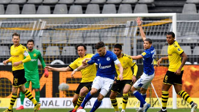 Schalke verlor das Revierderby gegen den BVB mit 0:4