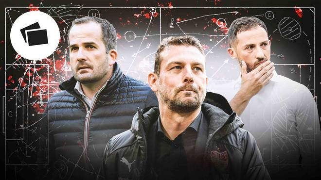 Manuel Baum, Markus Weinzierl und Domenico Tedesco (v.l.) machen mit ihren Klubs derzeit keine einfache Zeit durch