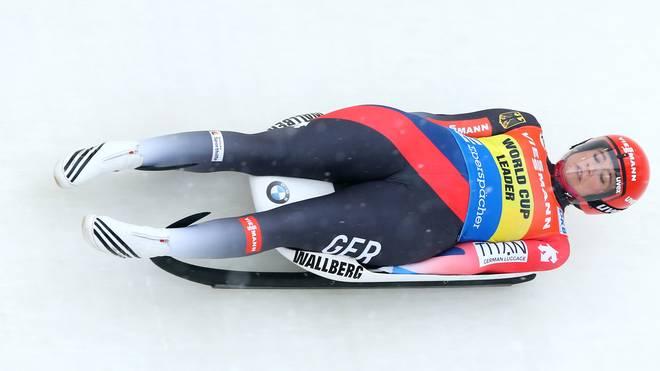 Natalie Geisenberger wurde in Lillehammer Zweite