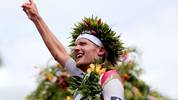 KAILUA KONA, HI - OCTOBER 08:  Jan Frodeno #1 of Germany celebrates after winning the 2016 IRONMAN World Championship triathlon on October 8, 2016 in Kailua Kona, Hawaii.  (Photo by Tom Pennington/Getty Images for Ironman)