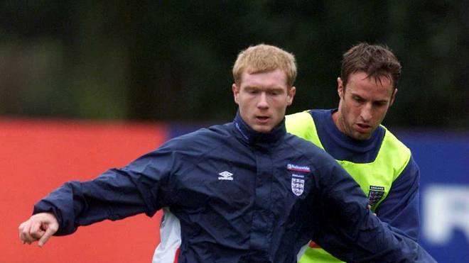 Paul Scholes und Gareth Southgate absolvieren einst einige Länderspiele gemeinsam für England