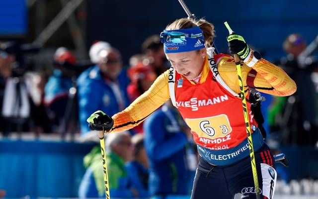 Franziska Preuß kämpft sich auf den dritten Rang vor