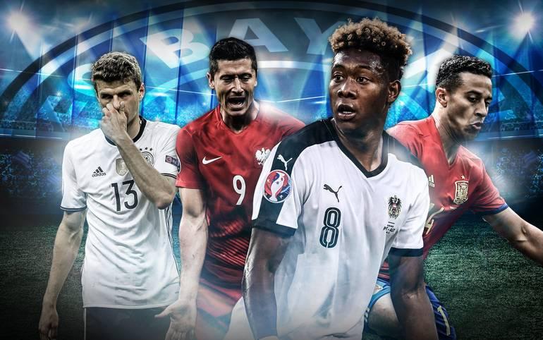 David Alaba, Thomas Müller, Robert Lewandowski, Thiago: Mehrere Stars des FC Bayern spielen bei der EM noch keine große Rolle. Trägt Ex-Trainer Pep Guardiola eine Mitschuld?