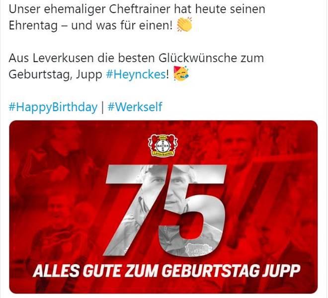 Bayer gratuliert dem Ex-Trainer