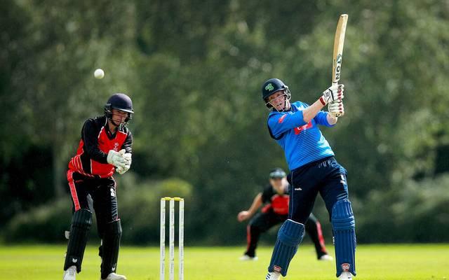 Cricket-Star Kevin O'Brien (r.) ist für seine Schlaghärte bekannt