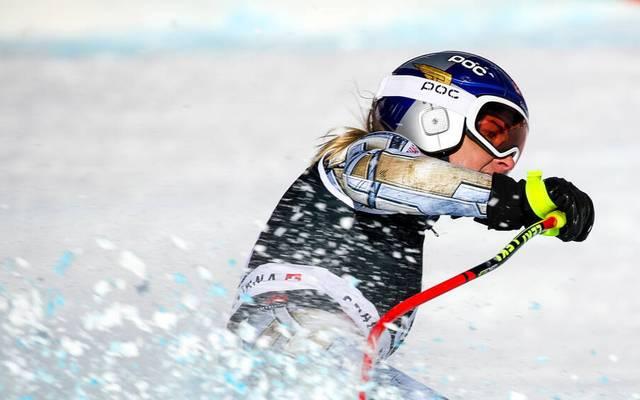 Ester Ledecka verlor in Crans Montana den Halt