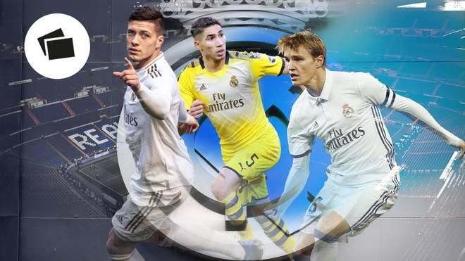 Luka Jovic, Achraf Hakimi und Martin Odegaard (v.l.) sollen Reals Zukunft prägen