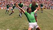 West German forward Klaus Allofs jubilat