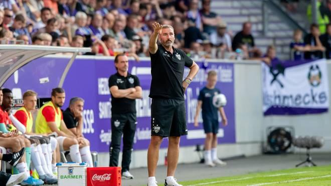 Tim Walter und der VfB Stuttgart wollen gegen Greuther Fürth die Tabellenführung verteidigen