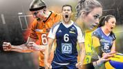 Volleyball-Rivalen Berlin, Friedrichshafen, Schwerin, Stuttgart