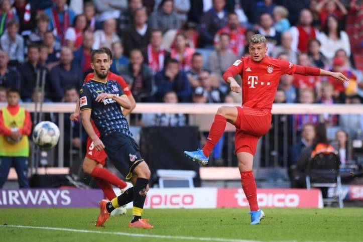 Mickael Cuisance (r.) spielt seit dieser Saison für den FC Bayern. Der Mittelfeldspieler konnte sich bislang aber nicht durchsetzen im Starensemble, kam bislang lediglich auf zwei Einsätze in der Bundesliga