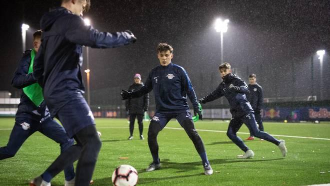 Leipzigs U17 beim Training