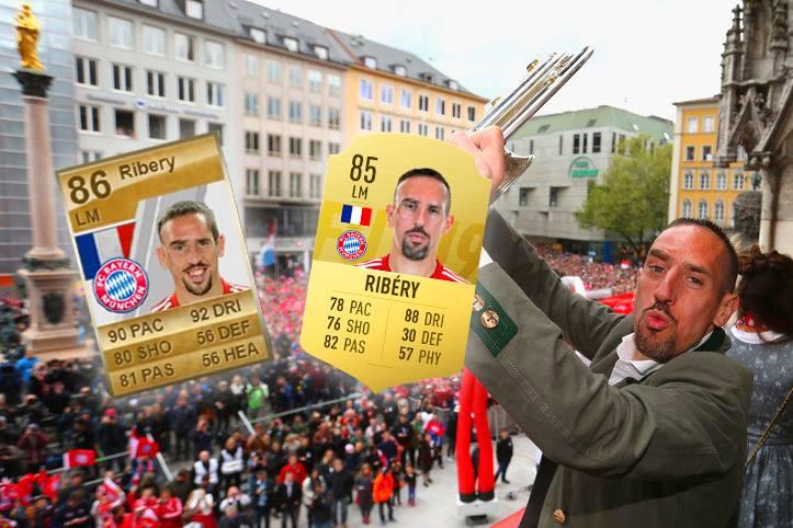 Nach zwölf Jahren beim FC Bayern verlässt Franck Ribéry den deutschen Rekordmeister zum Saisonende. In München genießt der Franzose längst Legendenstatus - und auch auf der Konsole wurde er zum Kultspieler. SPORT1 blickt zurück und zeigt seine Entwicklung bei den FUT-Karten der FIFA-Reihe