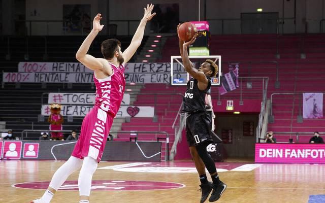 Das Hinspiel Anfang Dezember verloren die Telekom Baskets Bonn gegen die  Hamburg Towers mit 63:93