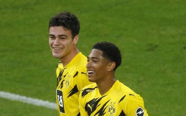 Giovanni Reyna (l.) und Jude Bellingham sollen beim BVB zu festen Größen reifen