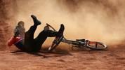 Spektakulärer Sturz von Jelle van Gorkom beim Finale der BMX-Wettbwerbe bei den Europaspielen in Baku