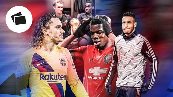 Antoine Griezmann, Paul Pogba und Corentin Tolisso enttäuschen in dieser Saison