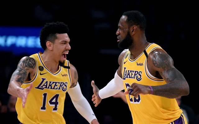 LeBron James (r.) steht mit den Lakers in den NBA-Playoffs