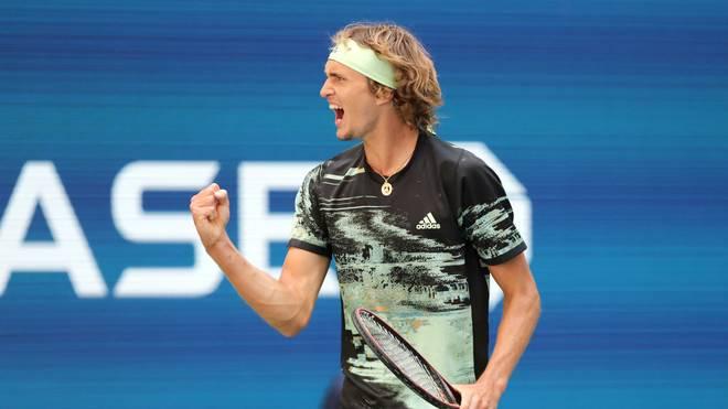 Alexander Zverev steht in der dritten Runde der US Open