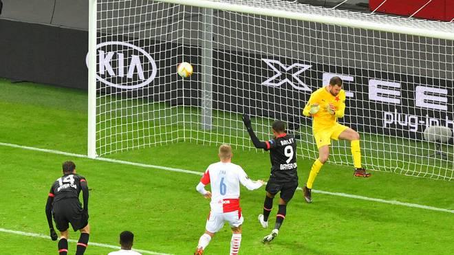 Leon Bailey erzielte gleich zwei Treffer für Bayer Leverkusen gegen Prag