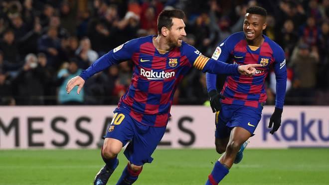 Lionel Messi traf im 16. Jahr in Folge in der spanischen Liga