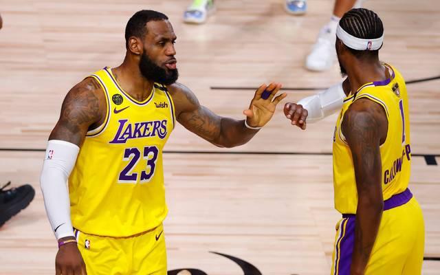 LeBron James und die Los Angeles Lakers stehen nach dem nächsten Sieg gegen die Miami Heat dicht vor dem Titel in der NBA