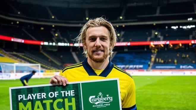 Emil Forsberg wurde zum Spieler des Spiels gewählt