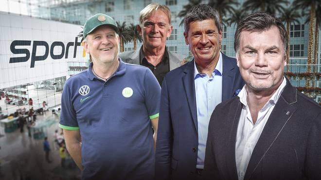 Beim Doppelpass begrüßt Thomas Helmer diesmal u.a. Jörg Schmadtke, Volker Finke und Markus Merk