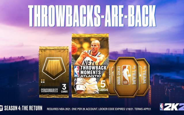 Jason Kidd im New-Jersey-Nets-Trikot ist der Headliner des neuen Throwback-Moments-Packs