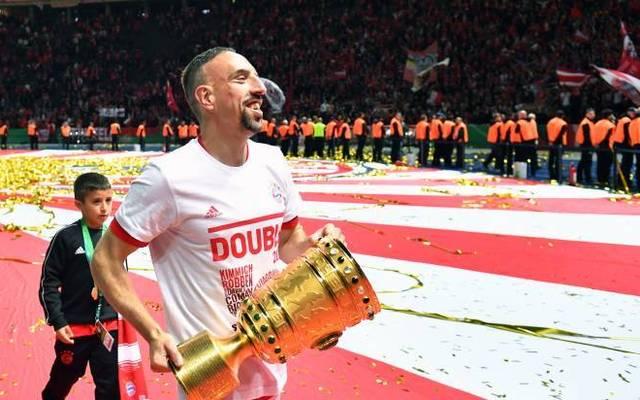 Seif Ribéry (hinten) könnte in einigen Jahren in die Fußstapfen seines Vaters Franck Ribéry treten