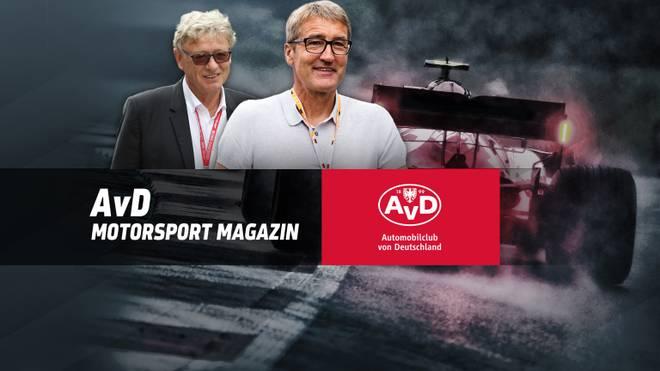 Bernd Schneider (r.) und Hermann Tilke stehen im AvD Motorsport Magazin Rede und Antwort