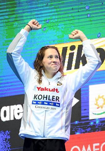 Bei den Schwimm-Weltmeisterschaften in Gwangju holt Sarah Köhler nach Gold im Freiwasser auch Silber über die 1500 Meter im Becken