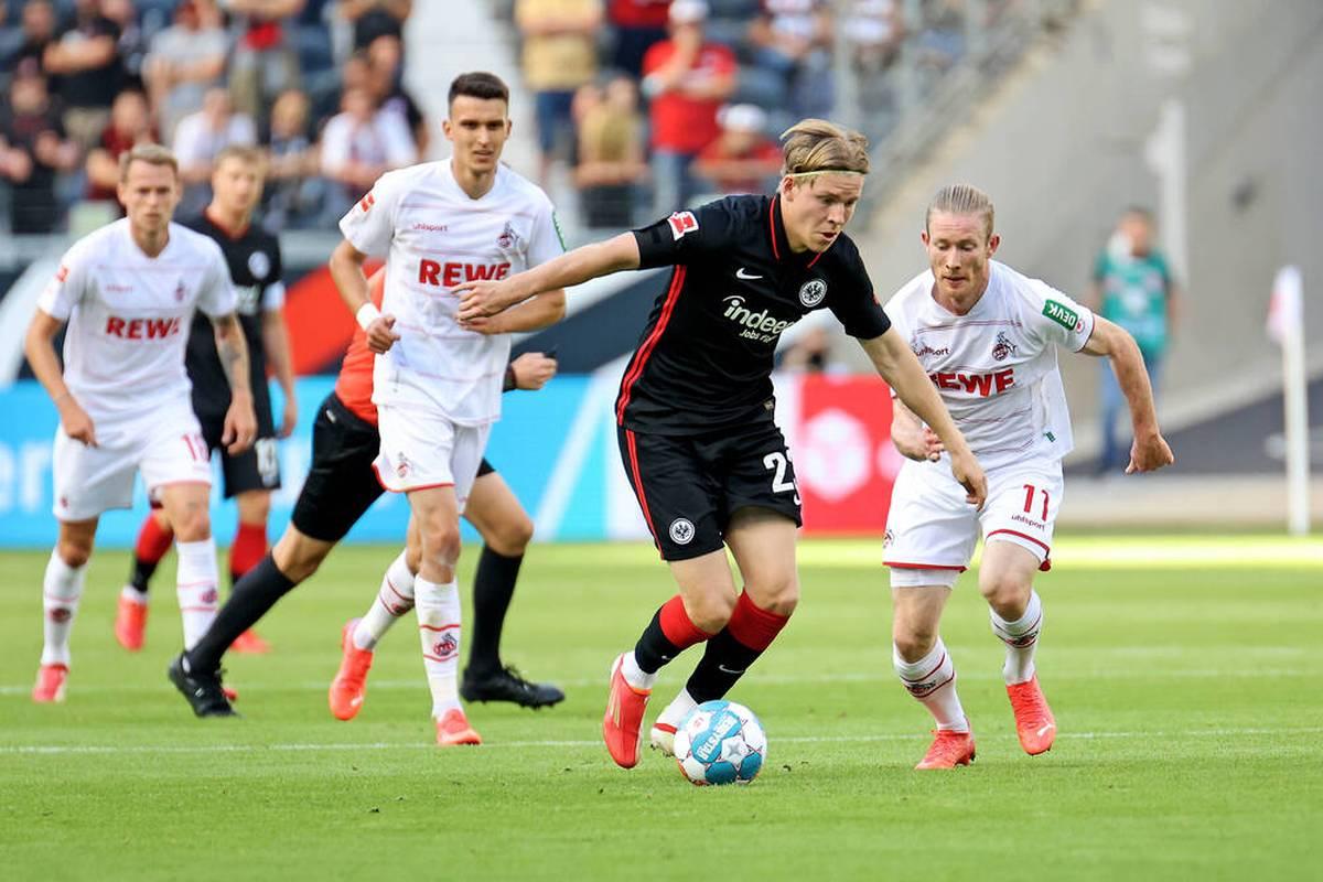Eintracht Frankfurt muss weiterhin auf den ersten Saisonsieg warten. Auch gegen den 1. FC Köln gelingt den Hessen kein Dreier.