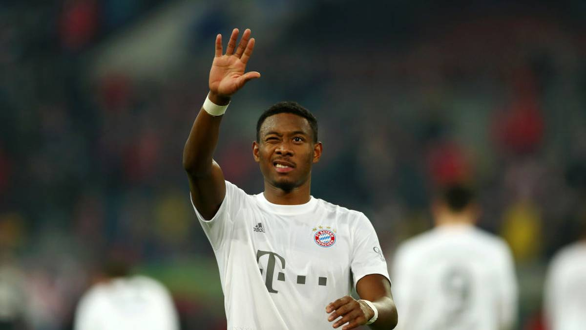 DUESSELDORF, GERMANY - NOVEMBER 23: David Alaba of FC Bayern Munich celebrates after his sides victory in the Bundesliga match between Fortuna Duesseldorf and FC Bayern Muenchen at Merkur Spiel-Arena on November 23, 2019 in Duesseldorf, Germany. (Photo by Lars Baron/Bongarts/Getty Images)