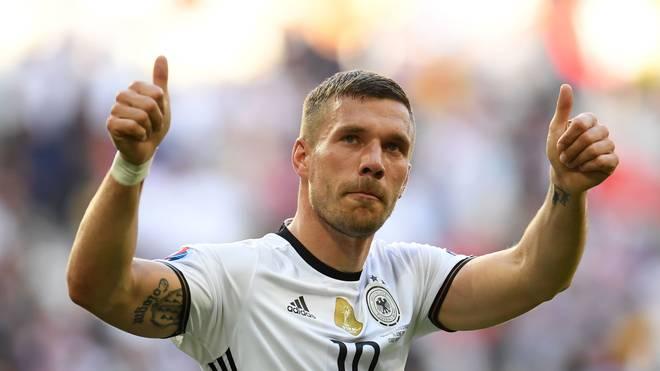 Lukas Podolski im DFB-Trikot