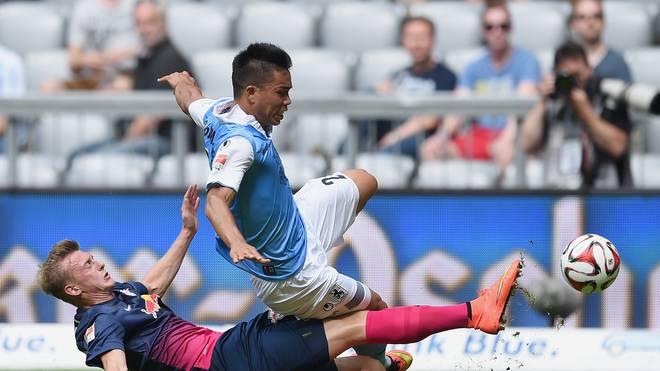 TSV 1860 Muenchen v RB Leipzig - 2. Bundesliga-Bobby Wood