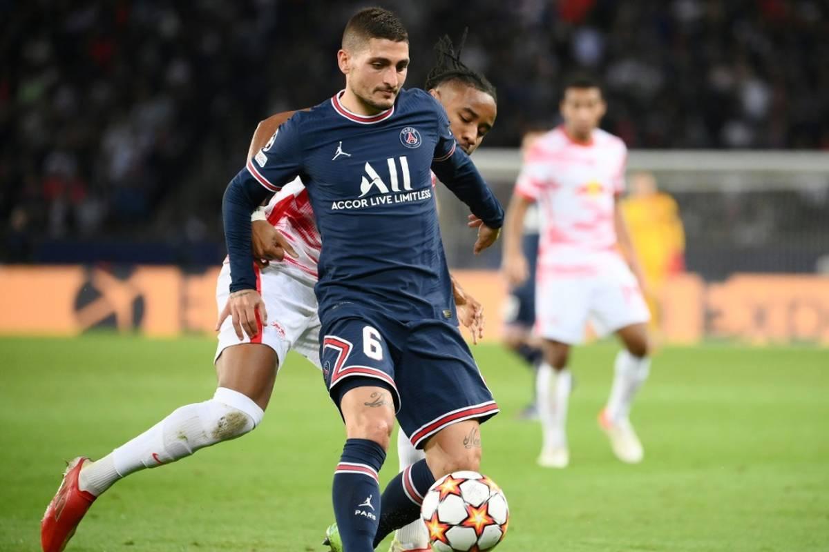 Topklub Paris St. Germain muss im Champions-League-Spiel bei Fußball-Bundesligist RB Leipzig auf Mittelfeldspieler Marco Verratti verzichten.