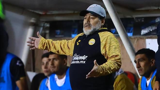 Diego Maradona trainierte zuletzt in Mexiko das Team Dorados