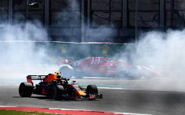 Sebastian Vettel kollidierte in Runde eins mit Daniel Ricciardo