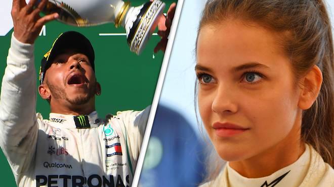 Lewis Hamilton und sein größter Fan in Ungarn: Barbara Palvin