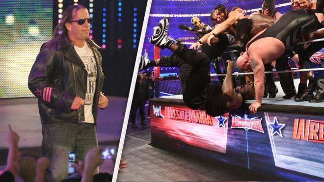 Ex-WWE-Star Bret Hart (l.) kritisiert WrestleMania